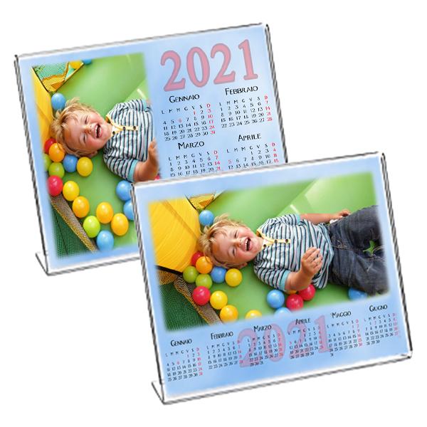 Calendario Da Tavolo Febbraio 2021 CALENDARIO PLEXI SEMESTRALE DA TAVOLO – AZZURRO (5753) – Foto Elite